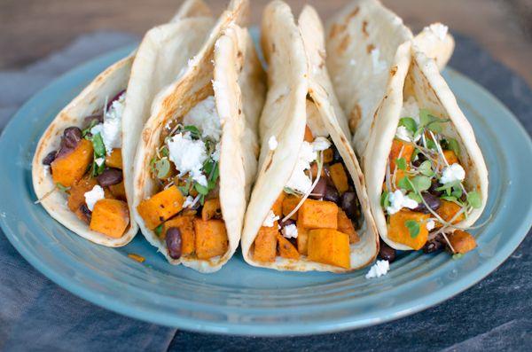 dre studio Smoky Sweet Potato amp Black Bean Tacos  Recipe