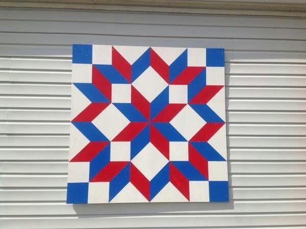 white star blue background flag