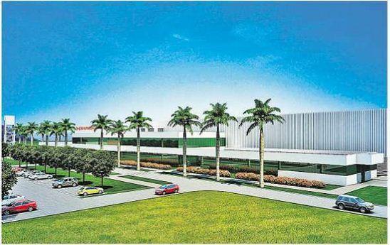 Imagem de modelo 3D da futura fabrica da Shineray em SUAPE. - (2)
