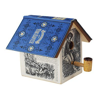 altered book birdhouse