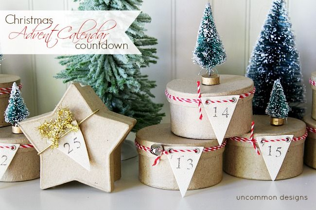 Simple Tree Topped Mini Box Advent Calendar ~ A Christmas Countdown