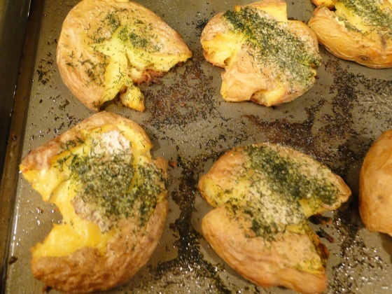Crispy Smashed Potatoes | Recipes! | Pinterest