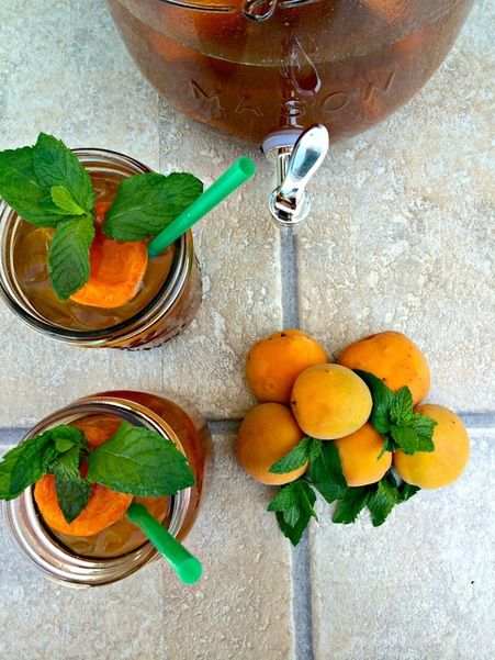 Apricot-Mint Iced Tea | Yummy Drinks | Pinterest