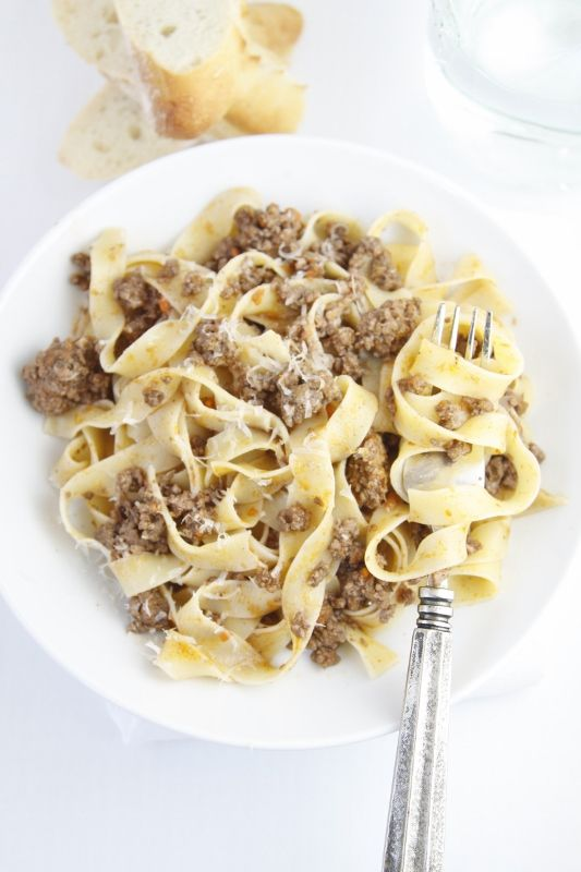 Pappardelle with Beefed Up Bolognese Sauce #moretomake