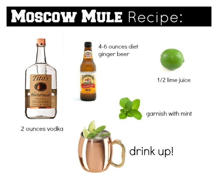 MOSCOW MULE RECIPE>> 2 ounces vodka, 4-6 ounces ginger beer, 1/2 ...