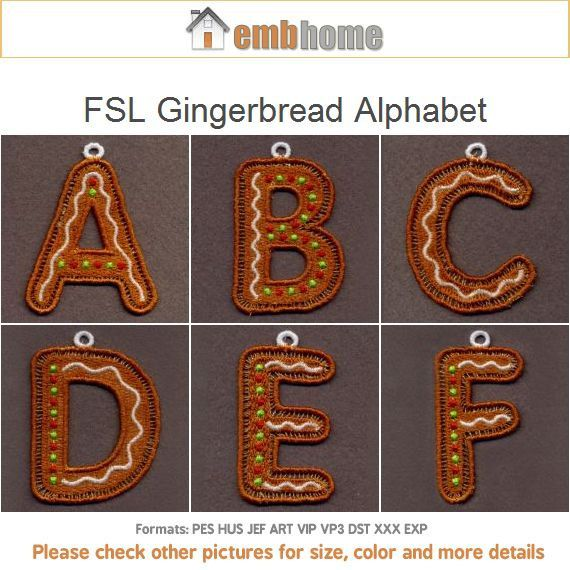 fsl gingerbread alphabet christmas ornaments free standing With gingerbread letter ornaments