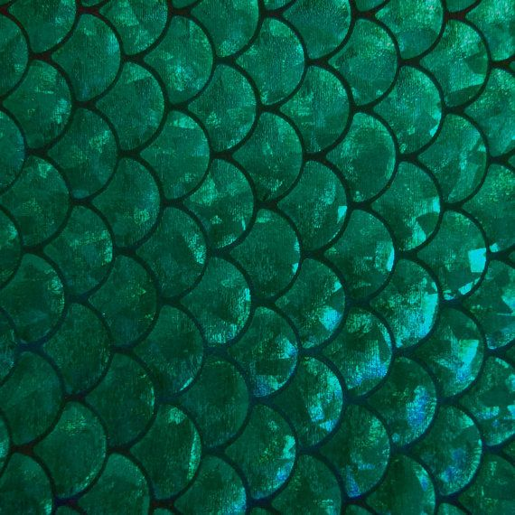 Spandex big fish scale green 58 inches wide fabric by the yard for Fish scale fabric