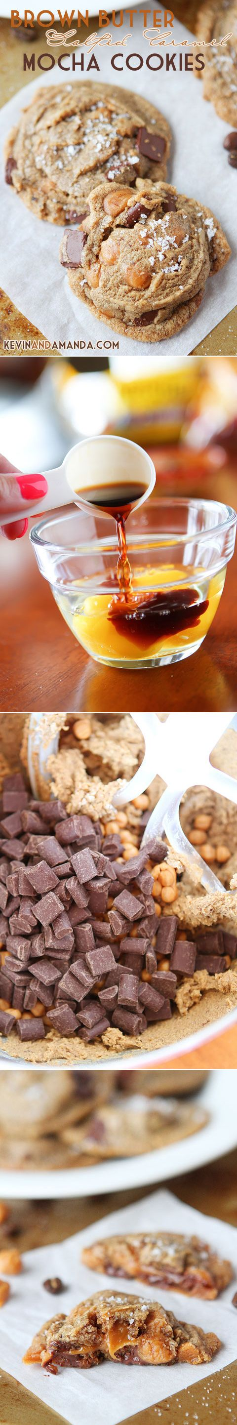 Brown Butter Salted Caramel Mocha Cookies | Recipe