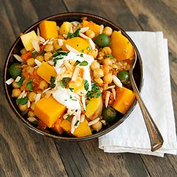 moroccan butternut squash and chickpea stew...I made this tonight and ...