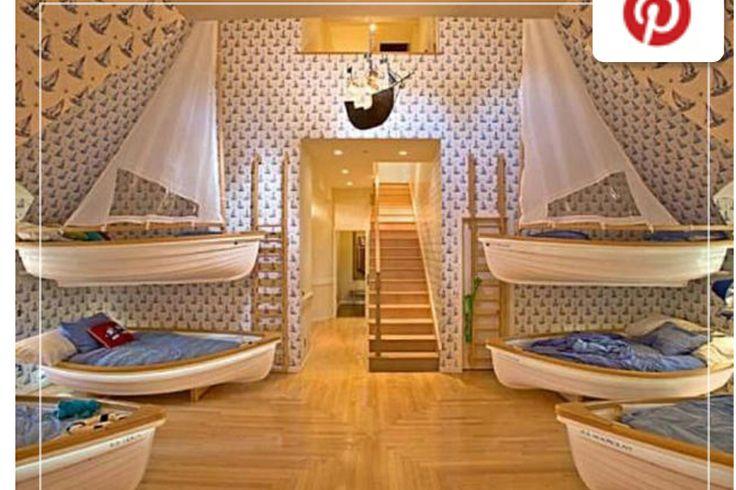 Kids Room With Multiple Bunk Beds Kids Rooms Pinterest