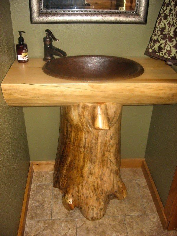 Wood Pedestal Sink : love the wood pedestal sink! Dream home Pinterest