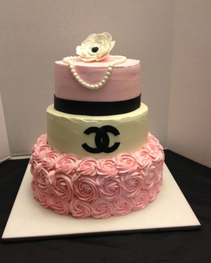 Chanel Cake Designs: Southern Blue Celebrations: Coco Chanel Cake, Cupcakes
