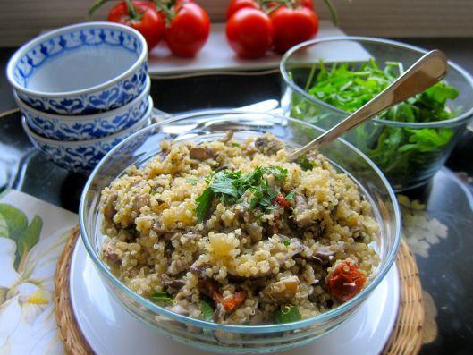 Mushroom Quinoa Risotto | Jittery Cook | Pinterest