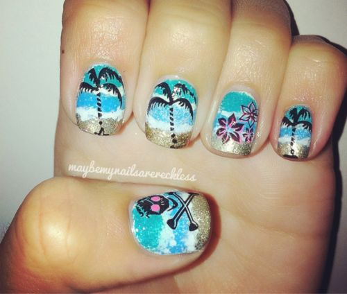 Tropical nails! :]
