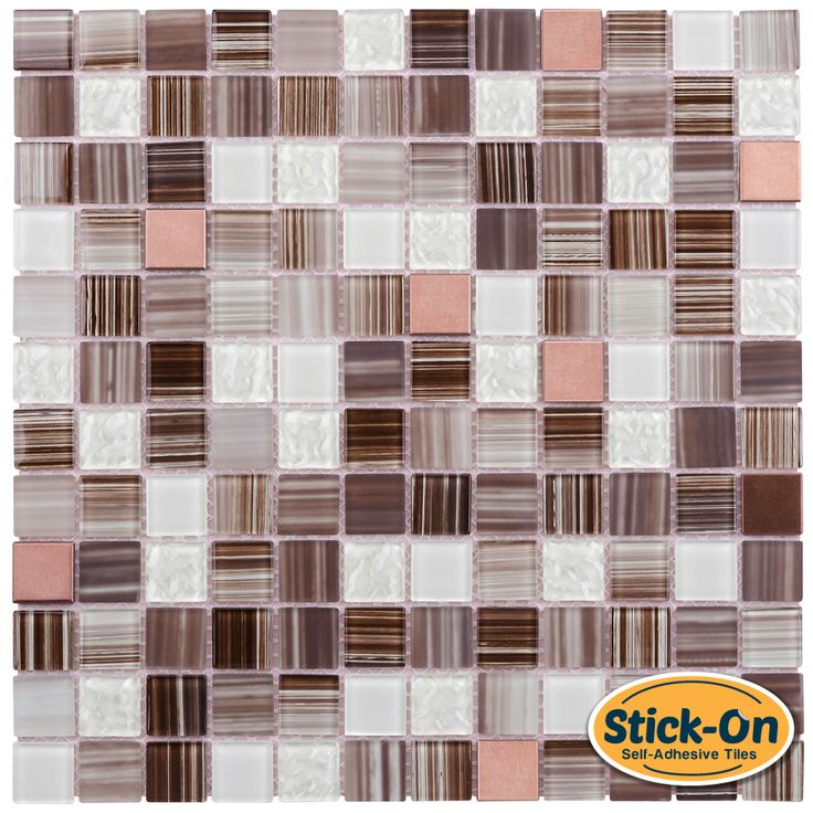 peel and stick glass mosaic tile bamboo