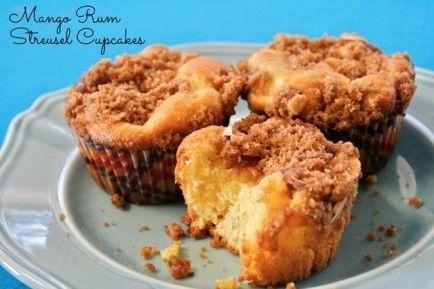 Mango Rum Streusel Cupcakes. Mango? Rum? Streusel? Cupcakes? Yes ...