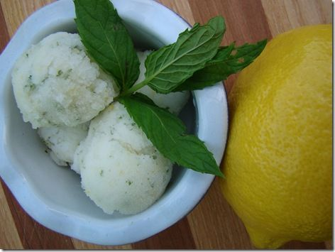 Lemon Mint Sherbet Recipe — Dishmaps