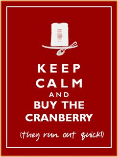More like this: the cranberries , cranberry sauce and cranberries .