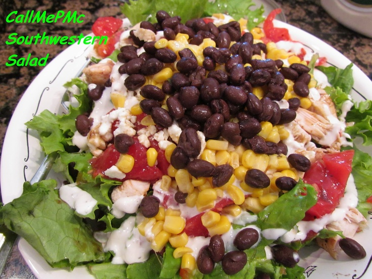 Call Me PMc: Southwestern Salad with Green Chile Lime Salad Dressing # ...