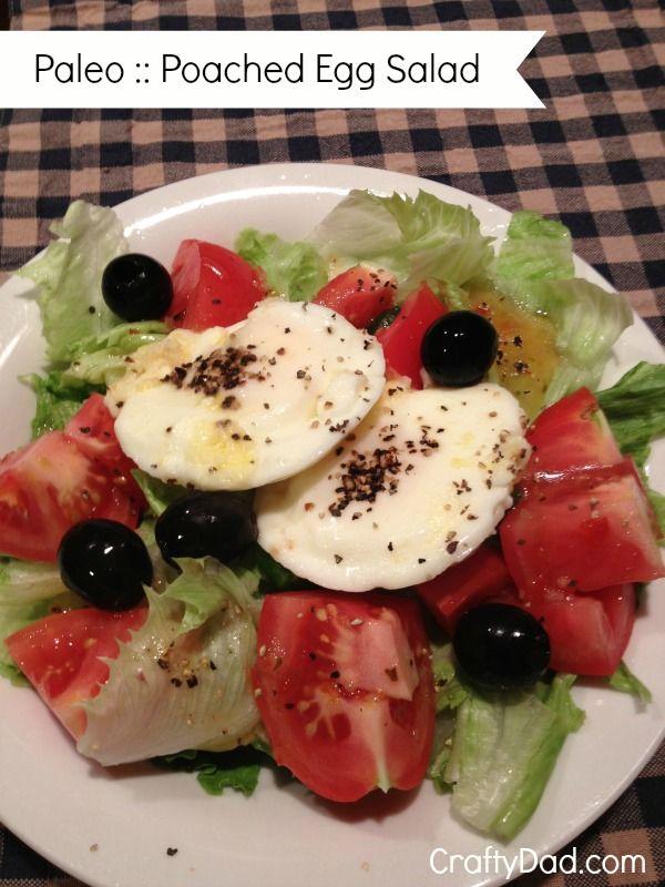 Paleo Recipe :: Poached Egg Salad   Paleo   Pinterest