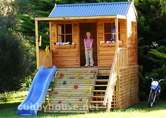 Smokey bear hideout cubbyhouse playhouses pinterest How to build outdoor playhouse