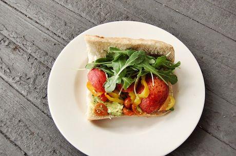 Summer Peach & Arugula Sandwich | Food | Pinterest