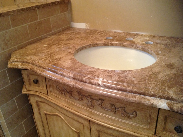 Emperador light marble vanity top. | Innovate Stones ...