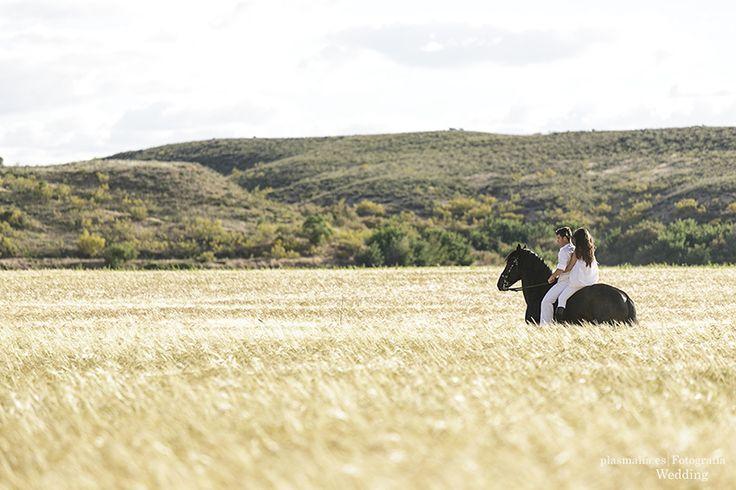 fotografía preboda en el campo