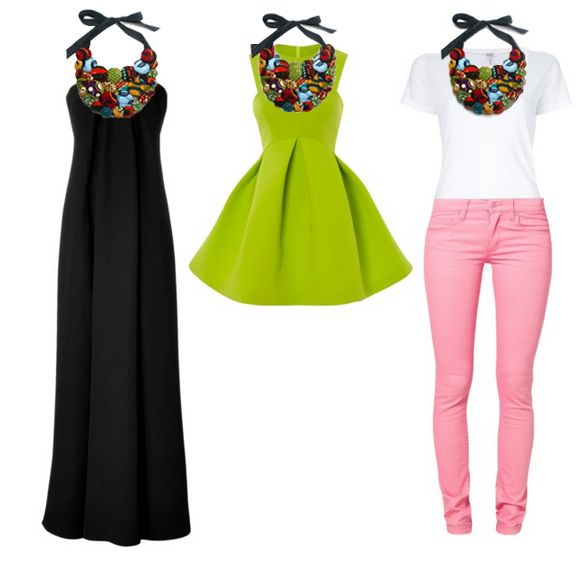 the button bib necklace the ultimate statement piece buttons ankara