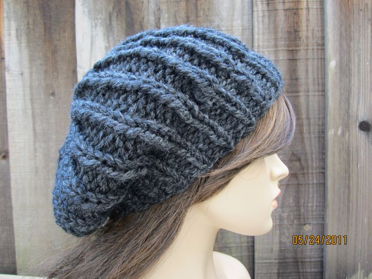 Different Knitting Stitches For Hats : Basic Knitting Loom Instructions Ribbed Flat Hat   Free Knitting Pattern fo...
