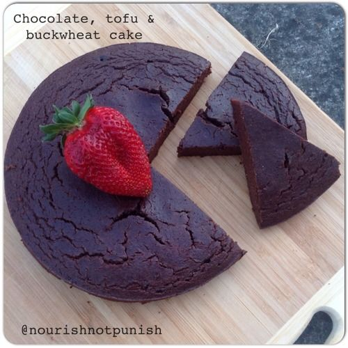 Chocolate, tofu & buckwheat cake | Bread, Cakes, Brownies, etc. | Pin ...
