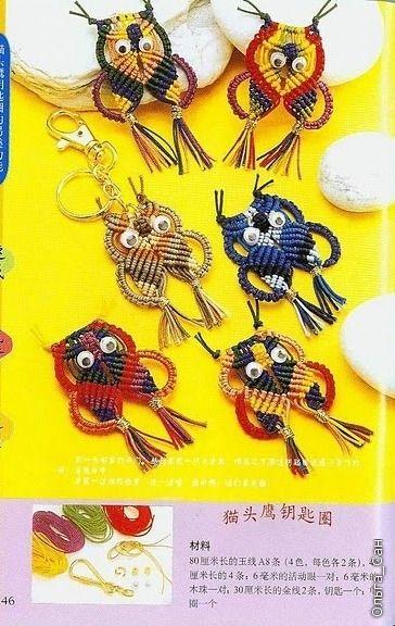 Owl macrame ornament tutorial