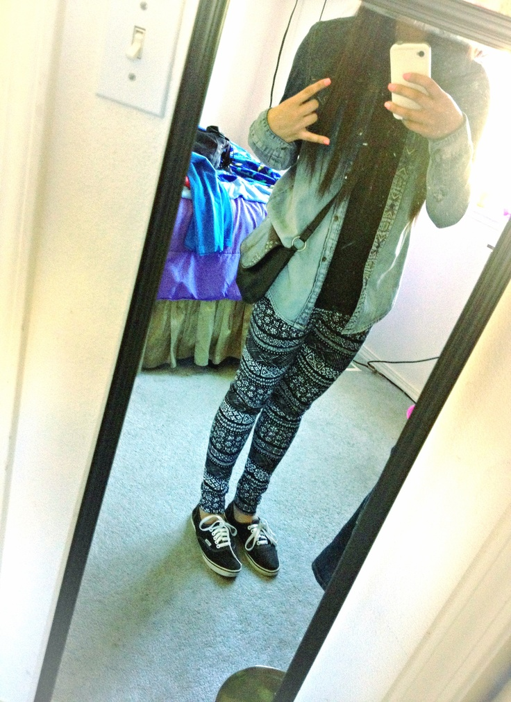 Outfits With Leggings And Vans   www.imgkid.com - The Image Kid Has It!