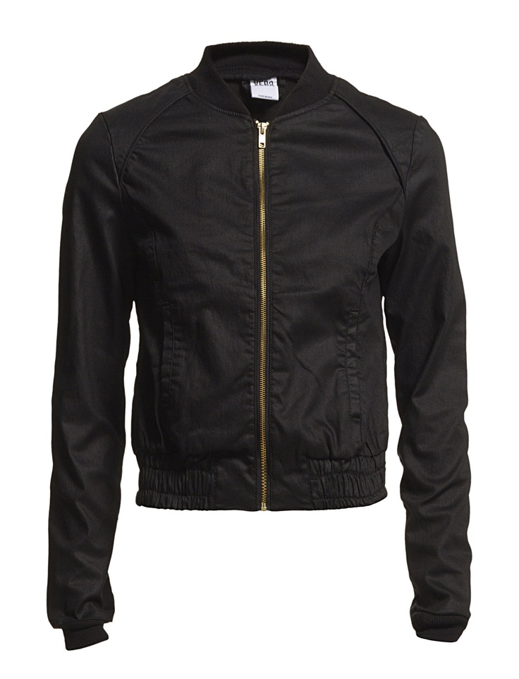 Womenu0026#39;s Black Bomber Jacket | My Style | Pinterest