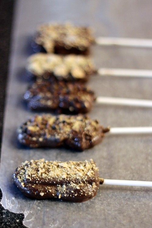 Actual recipe for smores pops for birthday party snacks