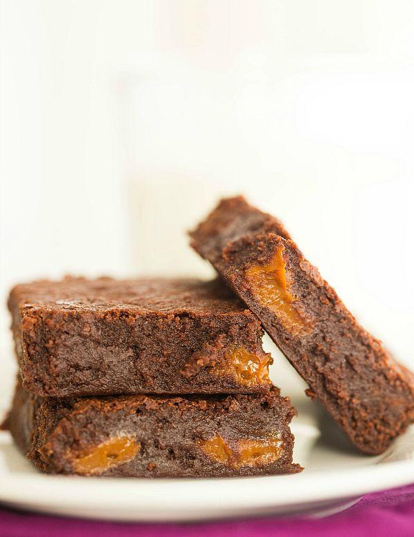 Dulce de Leche Brownies by @Michelle (Brown Eyed Baker) :: www ...
