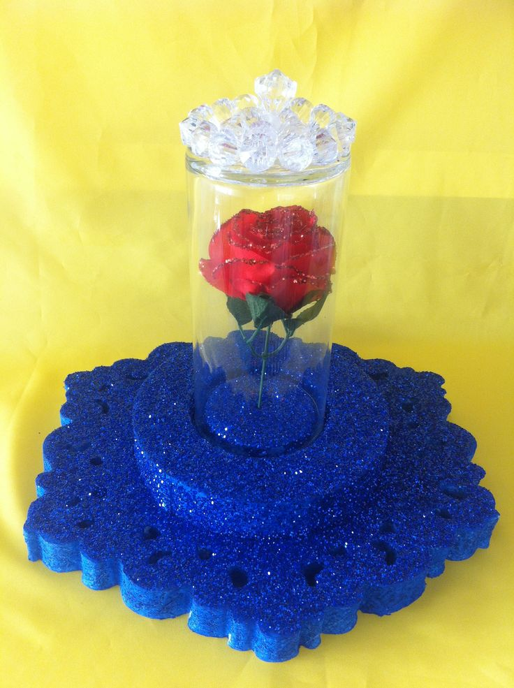 Diy Beauty And The Beast Centerpiece Our Creations Pinterest
