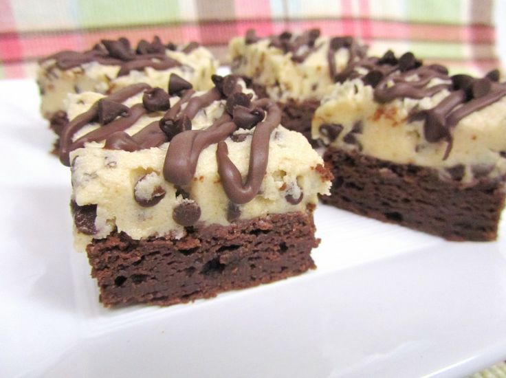 Chocolate Chip Cookie Dough Brownies. | Sweet Tooth | Pinterest