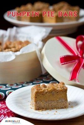 Creamy Pumpkin Pie Bars | I Love Food | Pinterest