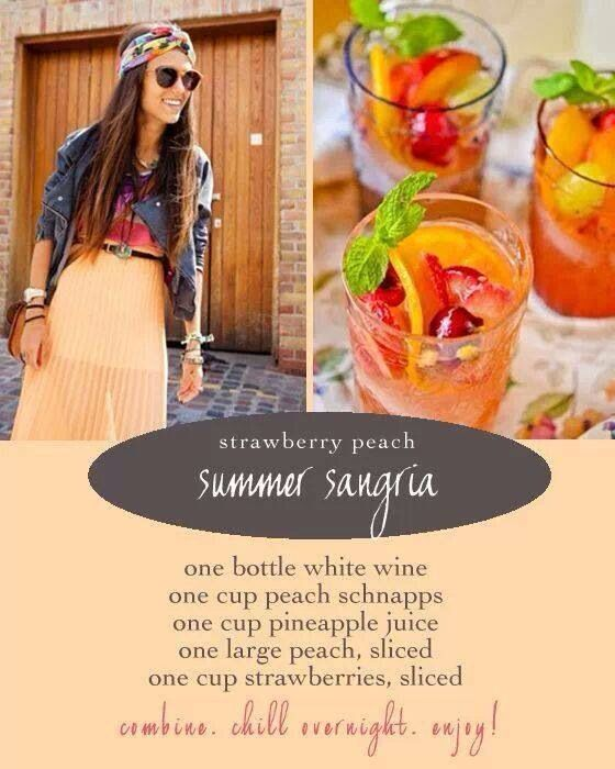 Strawberry peach summer sangria | Foods | Pinterest