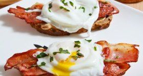 Poached Egg on Toast with Chipotle Mayonnaise, Bacon and Avocado-Swap ...