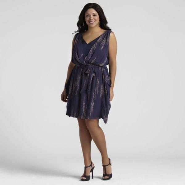 plus length attire in purple
