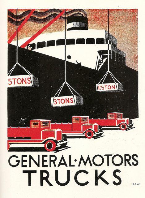 General Motors Trucks 1929 Bon Voyage Pinterest