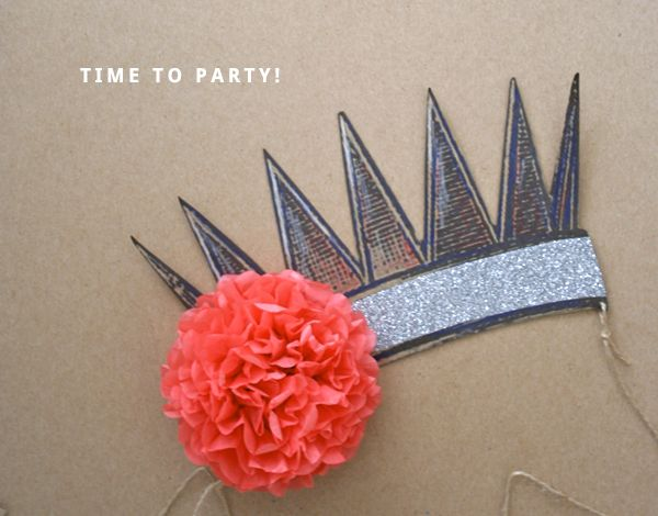 how to: make a birthday crown ( + free printable template )