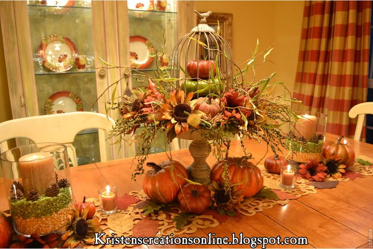Fall centerpiece fall things pinterest - Fall dining room table decorating ideas ...