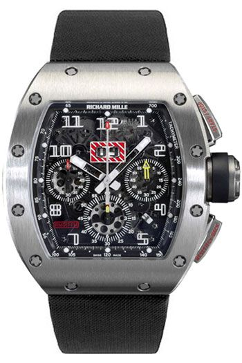 Richard Mille RM 011 Felipe Massa Flyback Chronograph Mens Wristwatch  Model RM011-Ti  Retail Price	 	$85,000.00