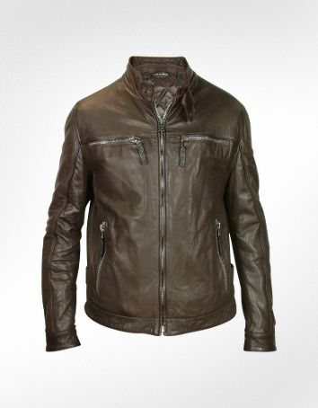 Rrl Leather Motorcycle Jacket in Brown for Men | Lyst