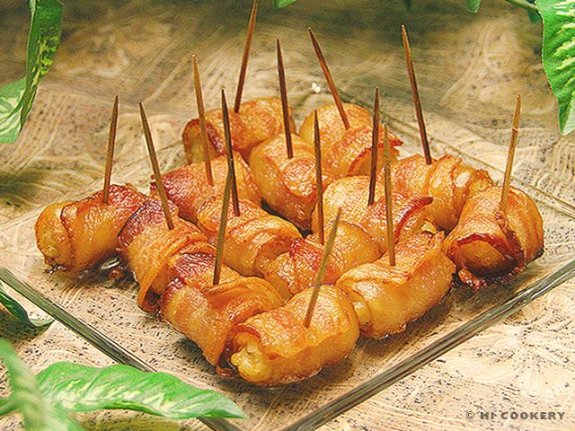 Bacon-Wrapped Tater Tots | Yummy | Pinterest