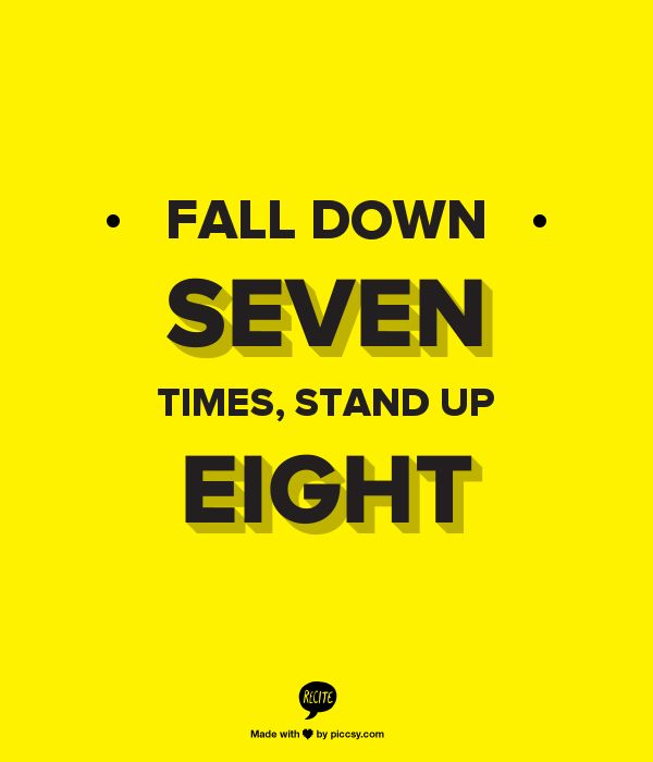 Fall seven times stand up eight explanation driverlayer for Fall down 7 times stand up 8 tattoo