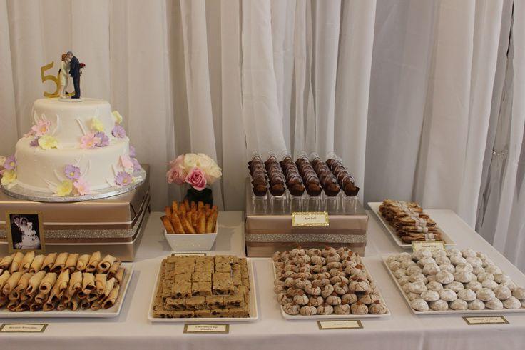 Parents th anniversary dessert table